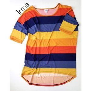 LuLaRoe Tops - NWT LuLaRoe Irma Sunset Stripe blue orange XL